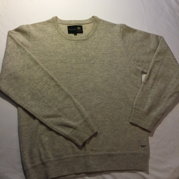 Wolsey Other - Wolsey 100% Lambswool Men's L Marled Sweater NWOT